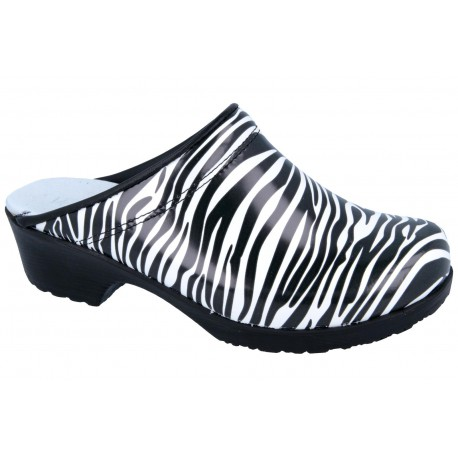Comfort Flex chodaki spody guma PU zebra