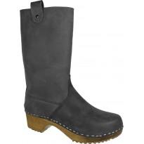 Black Boots Klogga kozaki drewniaki czarne