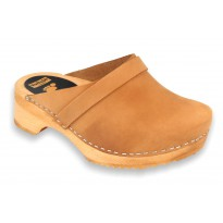 V-Camel KIDS Wooden Clogs Nubuck Light Brown