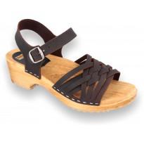 V-Brown sandały ciemny brąz
