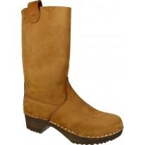 Brown Boots Klogga kozaki drewniaki brązowe