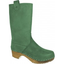 Green Boots Klogga kozaki drewniaki zielone