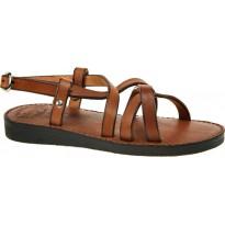 Sandały Gokke skórzane brązowe
